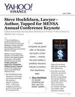 Steve Hochfelsen, Lawyer - Author, Tapped for MENSA Annual Conference Keynote