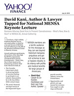 David Kani | Author & Lawyer | Tapped for National MENSA Keynote Lecture