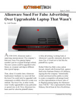 Alienware Sued For False Advertising Over Upgradeable Laptop That Wasn't